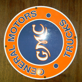 Vintage GMC sign I just picked up from an old storage unit. Can't find info on it..?? - Advertising