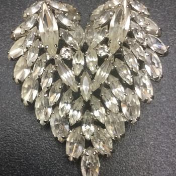 Sherman Triumvirate — Large Heart, Samples, Huge Stones & Setting - Costume Jewelry