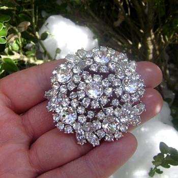 Crown Trifari Brooch - Contessa Collection - Costume Jewelry
