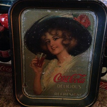 Dad's favorite Old Coca Cola Tray - Coca-Cola