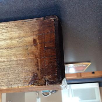 Mahogany leather top pedestal desk