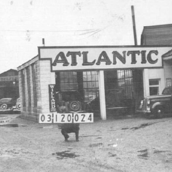 Atlantic Service Station Then & Now - Photographs