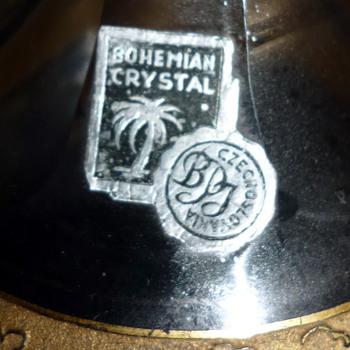 BOHEMIAN CRYSTAL LABEL - Art Glass