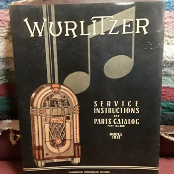 "WURLITZER ""COMMERCIAL PHONOGRAPH"" model 1015  service manual/parts catalog - Coin Operated"
