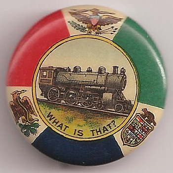 One of my favorite EARLY Railroad pinback button's - Medals Pins and Badges