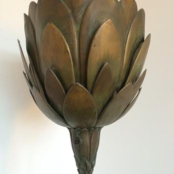 Mothers 1970's auction find : art nouveau torchere  - Lamps