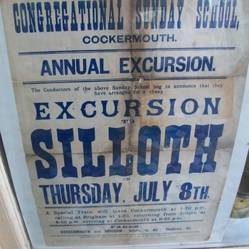 Poster of a Local Day trip circa 1890