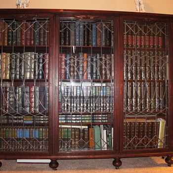 Our old Cherry wood antique bookcase - Furniture