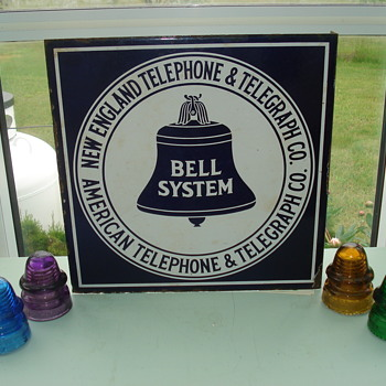 New England Tel & Tel Porcelain Sign