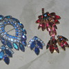 Blue Lagoon and unknown brooch and earing set