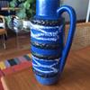 blue Scheurich vase, c. 1970s