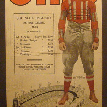 1924 Ohio State Buckeyes poster - Posters and Prints