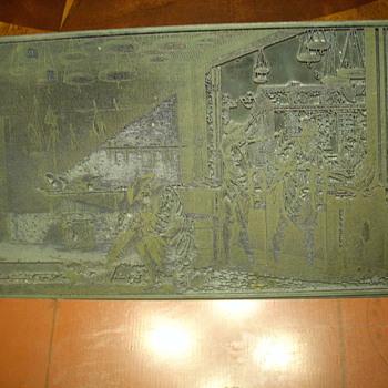 Revere Copper engraving plate
