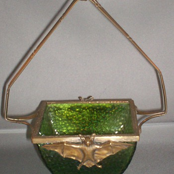 Loetz Kralik Martele Bat Basket - Art Glass