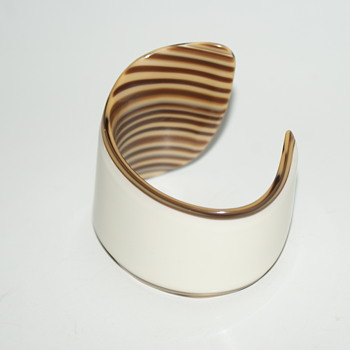 Unusual Plastic Cuff  - Costume Jewelry