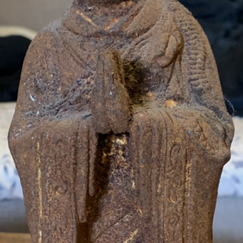Very Old Iron Buddha - Asian