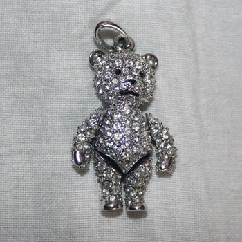 Classic Swarovski Crystal Teddy Bear Pendant - Costume Jewelry