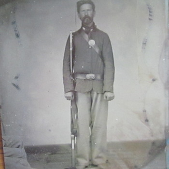 Tintype of Soldier in the 201st Pennsylvania regiment. - Photographs
