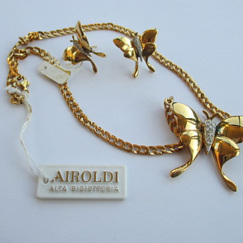 Airoldi set - necklace and earrings - Costume Jewelry