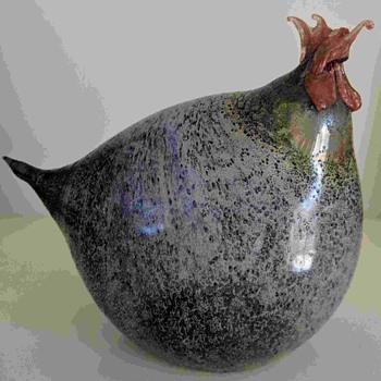 glass chicken - Art Glass