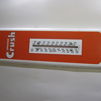 orange crush thermometer - Advertising
