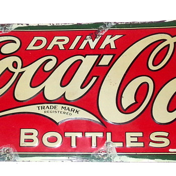 1927 Coca-Cola Tin Sign - Coca-Cola