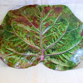 Early Signed Dodie Thayer Ceramics Cabbage/Lettuce leaf Dish  - Pottery