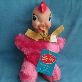My-toy plush pals pink rooster  - Animals