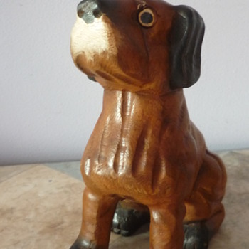Small Wooden Dog Carving - Animals