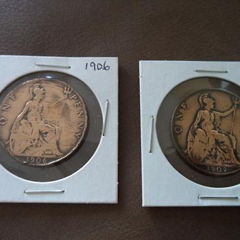 1906 & 1907  Penny-Edward VII