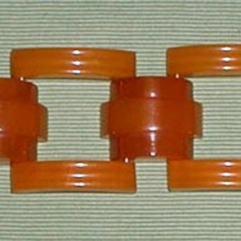 Bakelite Links Bracelet - Costume Jewelry