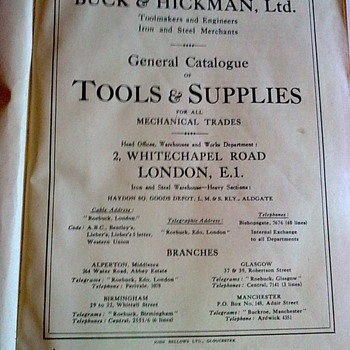 Buck & Hickman 1935 tool catalogue. - Tools and Hardware