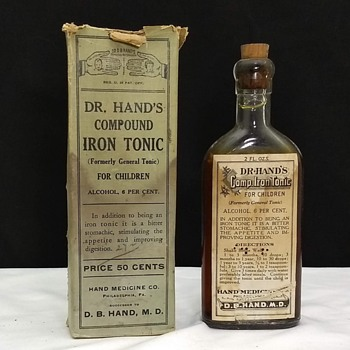 Dr. Hand's Compound Iron Tonic for Children Bottle - Bottles