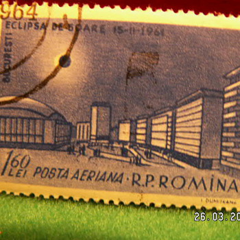 Vintage R.P. Romina 1 60LEI Stamp - Stamps
