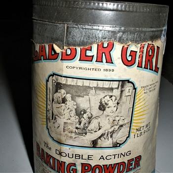 Clabber Girl Baking Powder Tin.... copyrighted 1899 - Kitchen