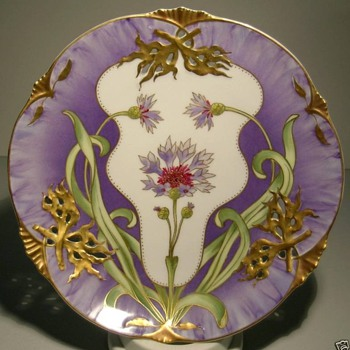 Nymphenburg Art Nouveau Plate - Pottery