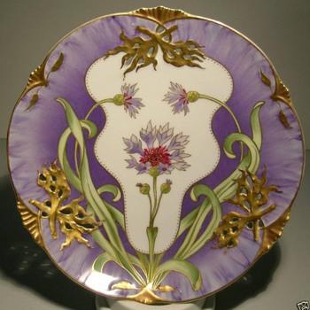 Nymphenburg Art Nouveau Plate