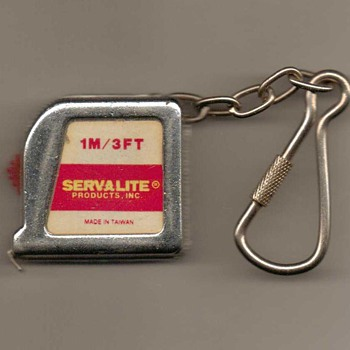 Servalite Keychain 3' Tape Measure - Tools and Hardware
