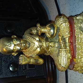 Gold colored Cast Iron Thailand Figure/ Statue