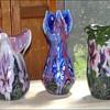 Three CROWN TOP Vases by Robert Lagestee