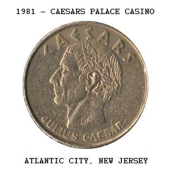Caesars Palace Casino - $1 Gaming Token - Games
