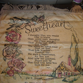 Sweetheart Pillow - Civilian Conservation Corps - Rugs and Textiles