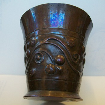 Copper Beaker made by Keswick School of Industrail Art (uk) 1900 - Arts and Crafts