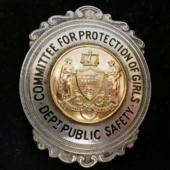 Committee for Protection of Girls, Sterling silver badge, Philadelphia - Silver