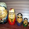 Matryoshka nesting dolls depicting Russian leaders.