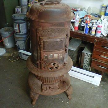 Round Oak Stove - Kitchen