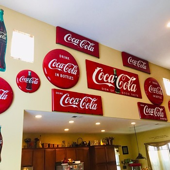 ...One more wall started for displaying some of the collection.... - Coca-Cola