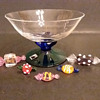 Atelier Morava small footed bowl with candies by Jiri Vosmik