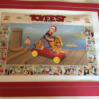 King features syndicate TOY FEST Poster, 13th annual,  signed limited Edition