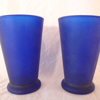 UMBRA Cobalt Blue Drinking Glasses Tumblers - Age? - Glassware